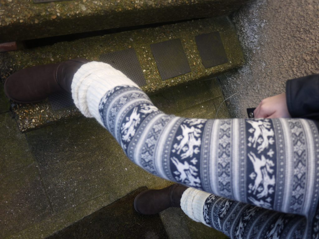 jack wills christmas knit leggings