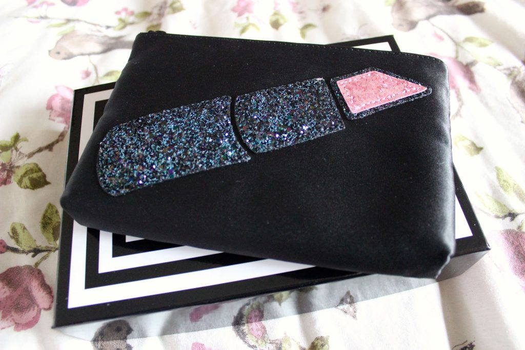 lulu guinness glitter lipstick make up bag