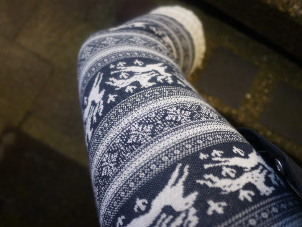 jack wills christmas knit leggings