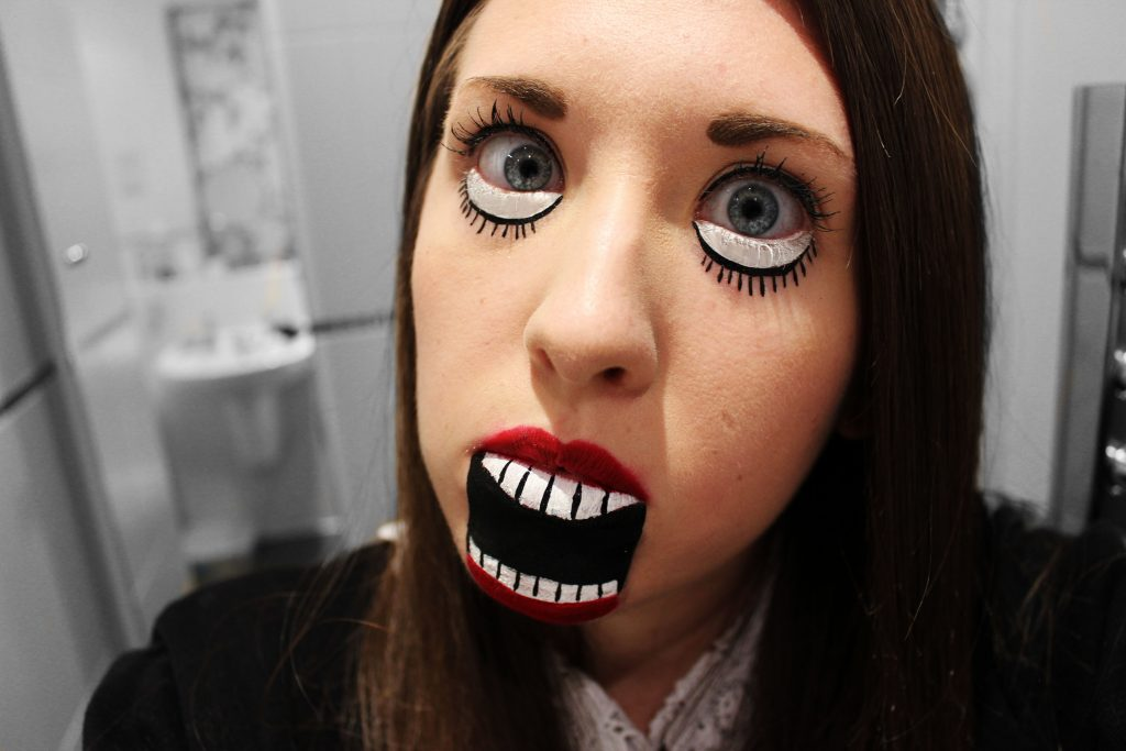 creepy doll halloween makeup