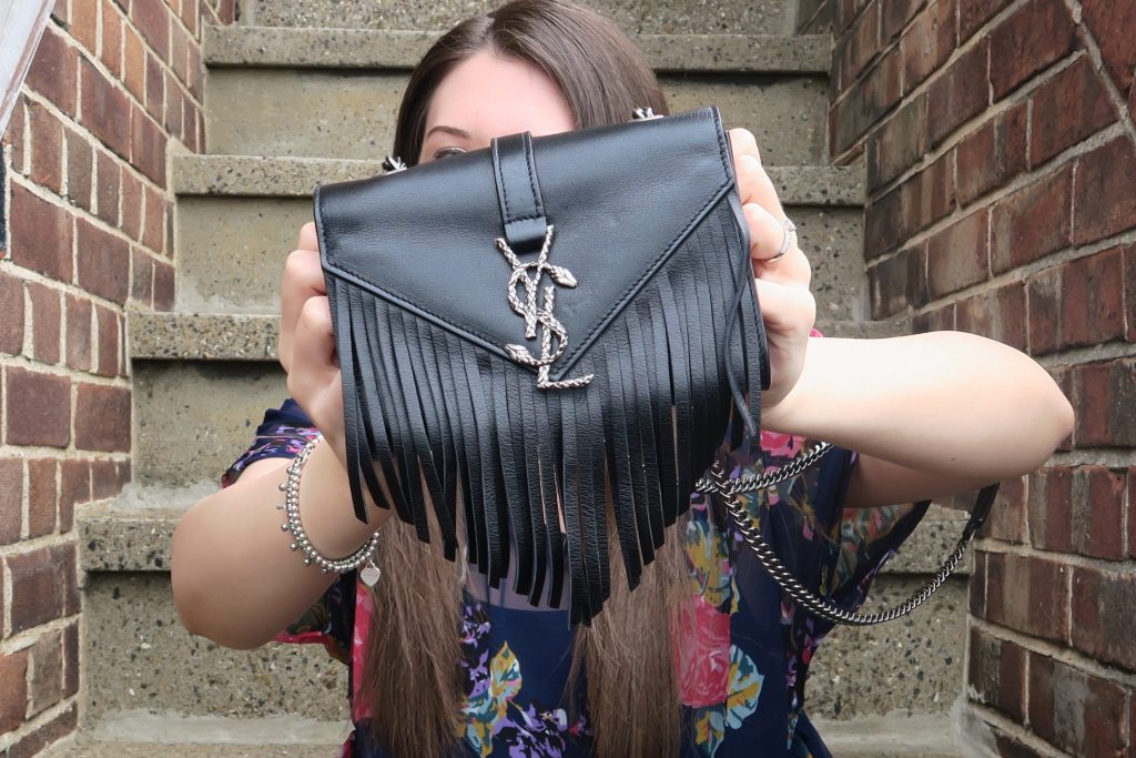 saint laurent fringed crossbody bag